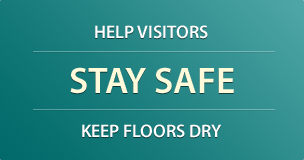 Help visitors stay safe and keep floors dry